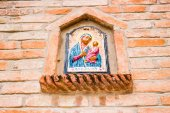 Blessed Mary Votive icon — Stock Photo