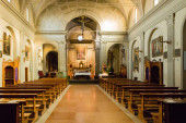 Interiors of Italian Church in Dozza — Stock Photo
