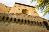 Medieval brick walls — Stock Photo