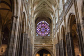 Rosette decal of St. Vitus Cathedral in Prague — ストック写真