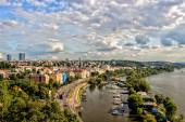 View of Prague and Vltava — Stock Photo