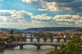 Bridge and rooftops of Prague — Stock Photo