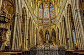 Saint Vitus Cathedral Interiors — Stock Photo