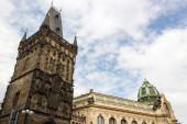 Prague Municipal House and Power Tower — Stock Photo