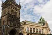 Prague Municipal House and Power Tower — Stock Photo