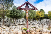 Cross on Apparition hill  — Stock Photo