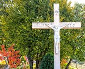 White Cross at Apparition Mountain in Medugorje — Stock Photo
