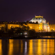 National theatre at night in Prague — Stock Photo #65384661