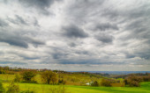 Agricultural cultivated fields in Italy — Stockfoto