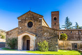 The Evocative religiosity of Italian Romanesque Church — Stock Photo