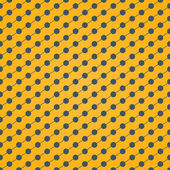 Halftone of gray dots which intersect lines on a yellow background — Stock Vector