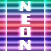 Neon a colorful background of horizontal lines — Stock Vector