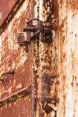 Lock on rusty iron door — Stock Photo