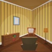 Retro inomhus — Stockvektor