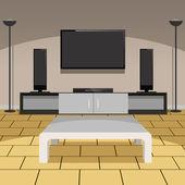 Modern Living Room — Vetor de Stock