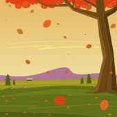 Autumn in the Mountain — Stockvector