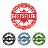 Bestseller Grunge Stamp — Stock Vector