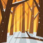 Hiver en forêt — Vecteur