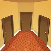 House Hallway — Stock Vector