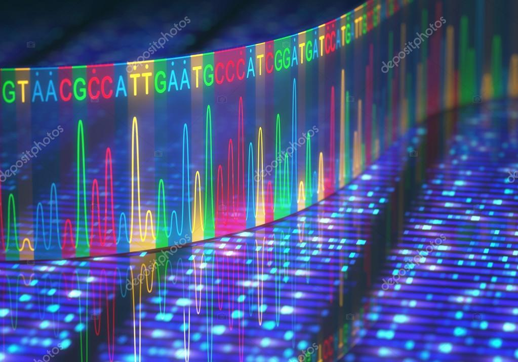 Sequenziamento Del Dna Test Sanger Foto Stock