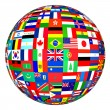 Globe with flags of various countries — Stock Photo #63114305
