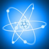 Nucleus and negatively charged electrons. — Stock Photo