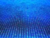 Fondo binario en campo azul — Foto de Stock