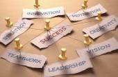 Schemat blokowy biznes z słowo sukces w środku — Zdjęcie stockowe
