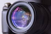Reflex in the camera lens — Stok fotoğraf