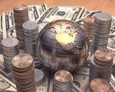 American money around the globe — Stock Photo
