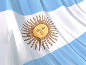 Glossy flag of Argentina — Stock Photo