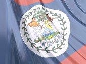 Glossy flag of Belize. — Stock Photo