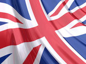 Glossy flag of United Kingdom. — Stock Photo