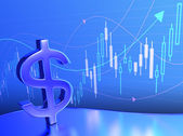 Candlestick Dollar Chart — Stock Photo
