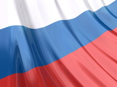 Glossy flag of Russia.
