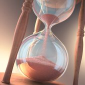 Hourglass counting the time — Stock Photo