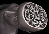 The human brain is a set of gears — Stock Photo