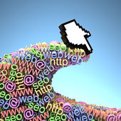 Cursor on the wave of the Internet — Stock Photo