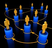 People interconnected on the concept of team — Stock Photo
