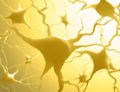 Neurones Inside the brain — Stock Photo