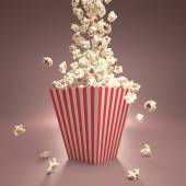Dropping Popcorn — Stock Photo