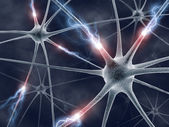 Neuron generating electrical pulses. — Stock Photo