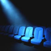 Прожектор на пустой стул — Стоковое фото