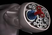 人間の脳は歯車のセット — ストック写真