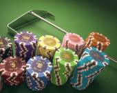 Colorful  Casino Chips — Stock Photo