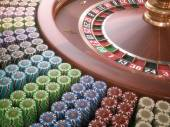 Colored casino chips — Stock Photo