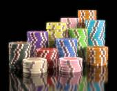 Colorful  Gambling Chips — Stock Photo