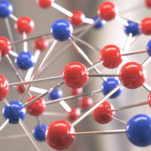 Molecular structure with spheres — Stock Photo