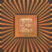 3D Microchip Core — Zdjęcie stockowe