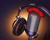 Headset with classic microphone — Stock Photo